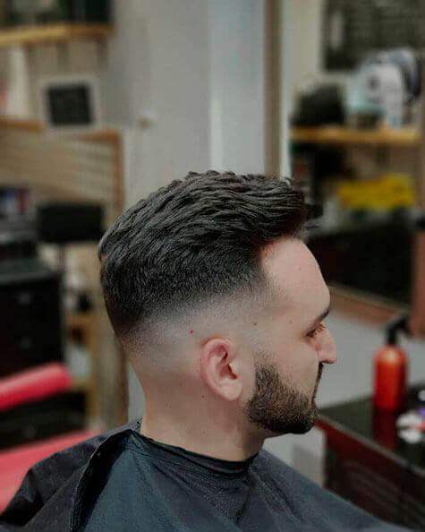 Barbería en parque Retiro